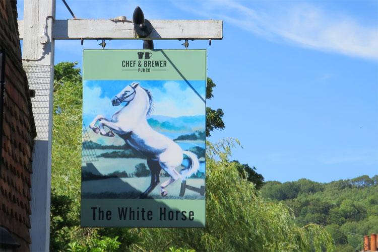 The White Horse Pub, Shere, England © Andrea David
