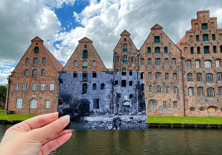 """Szene aus """"Nosferatu"""" an den alten Salzspeichern, Lübeck"""