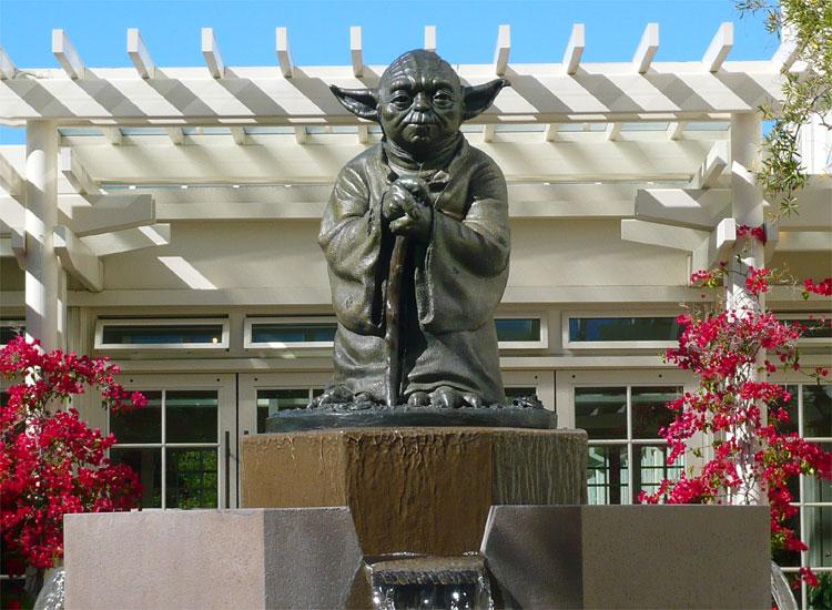 Yoda-Brunnen, LucasFilm, San Francisco © Andrea David