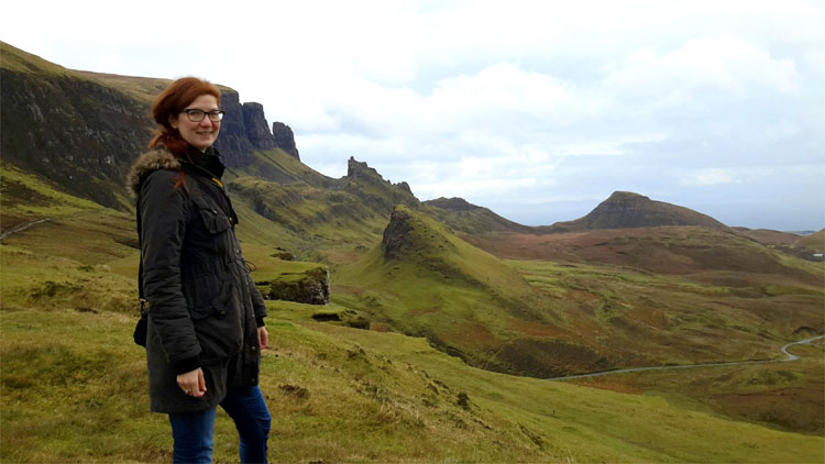 Doreen am Quiraing © Doreen Reeck
