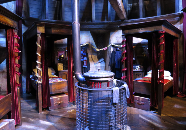 Jungenschlafsaal Gryffindor, Warner Bros. Studio Tour London © Andrea David