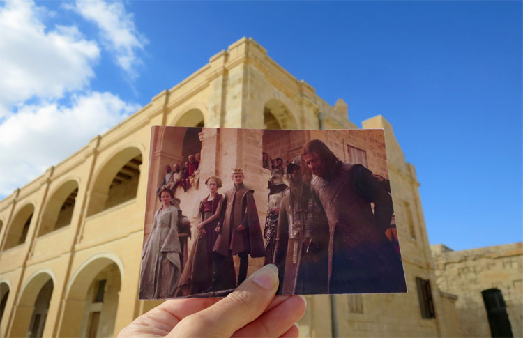 """Game of Thrones""-Drehort, Fort Manoel, Malta © Andrea David"