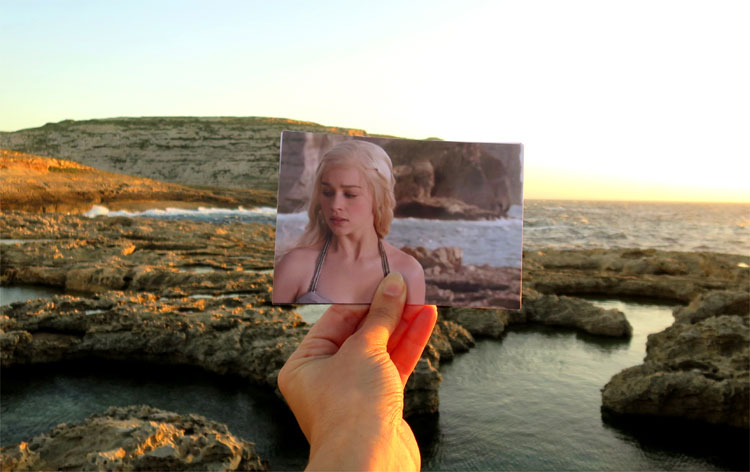 """Game of Thrones"" Drehort Azure Window auf Gozo © Andrea David / HBO"