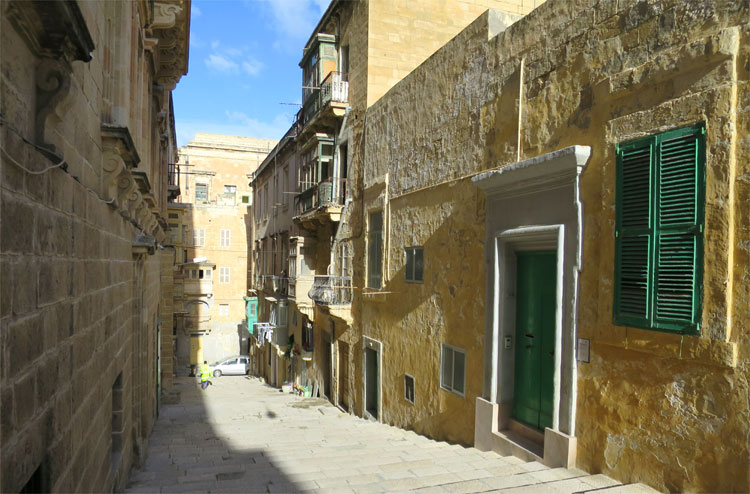 """World War Z""-Drehort, St Dominic Street, Valletta, Malta"