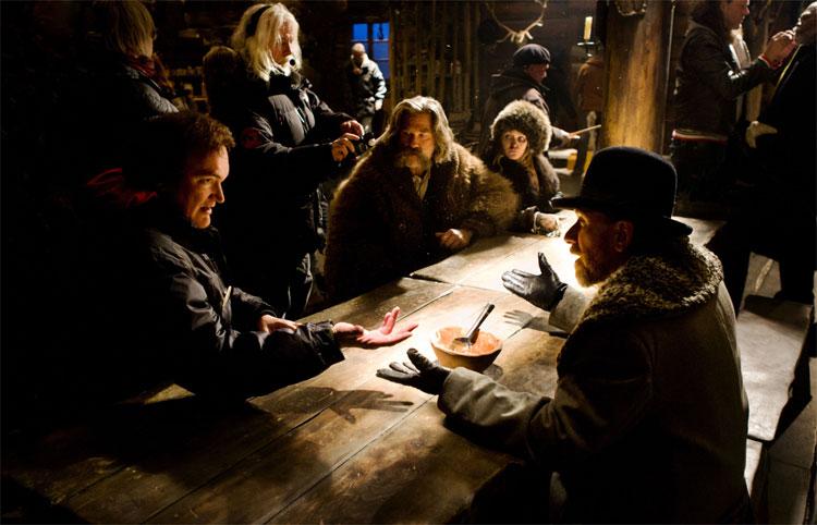 """Am Set von """"The Hateful 8"""" © Universum Film"""