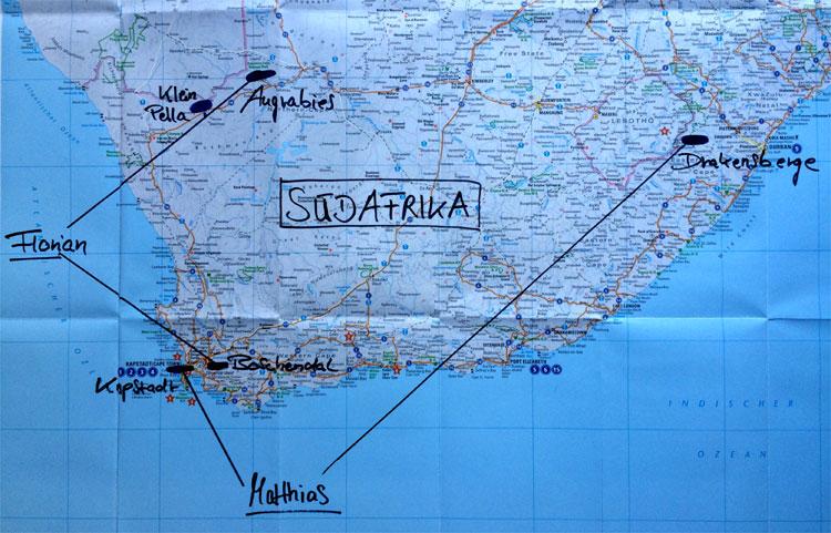 Die Lieblingsorte von Florian David Fitz und Matthias Schweighöfer in Südafrika © Andrea David