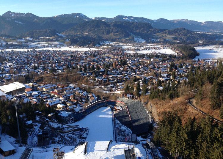 Skisprungschanze in Oberstdorf, Bayern