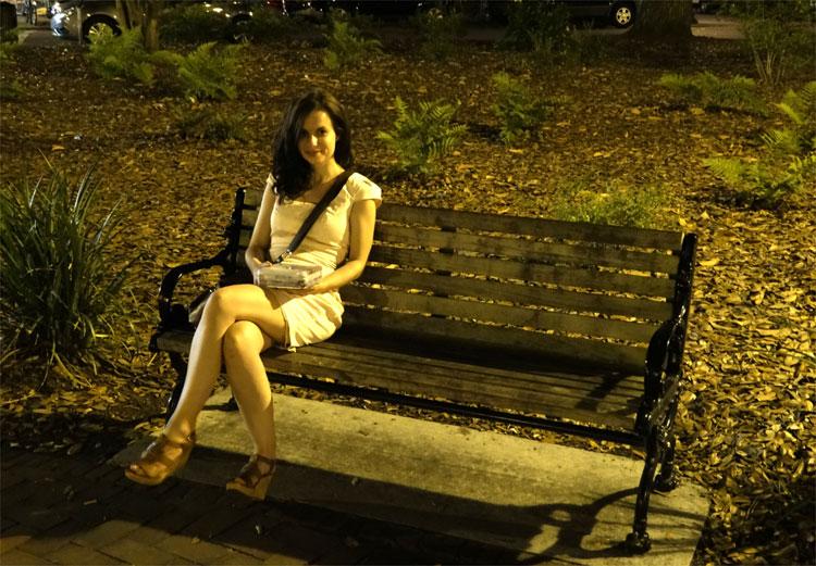 "Drehort aus ""Forrest Gump"", Chippewa Square, Savannah, Georgia © Mandy Decker / Travelroads"