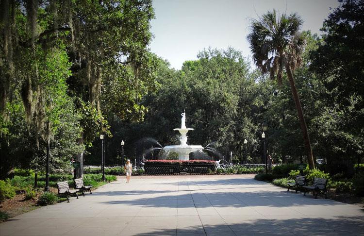 "Drehort aus ""Cape Fear"", Forsyth Park, Savannah, Georgia © Mandy Decker / Travelroads"