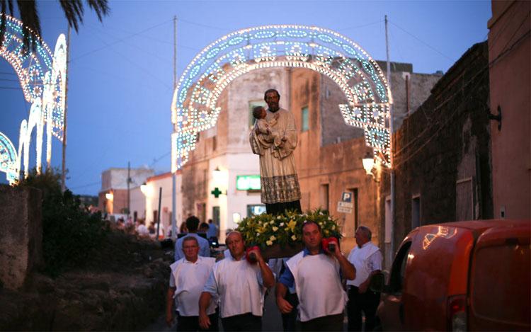 Das Fest von Gaetano, Scauri, Pantelleria, Sizilien, Italien