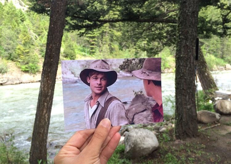 "Filmszene aus ""Aus der Mitte entspringt ein Fluss"" am Gallatin River, Montana © Andrea David"
