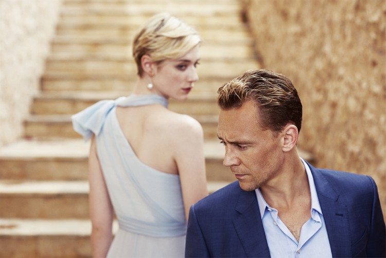 "Jed Marshall (Elizabeth Debicki) und Jonathan Pine (Tom Hiddleston) in ""The Night Manager"" © ZDF/Des Willie"