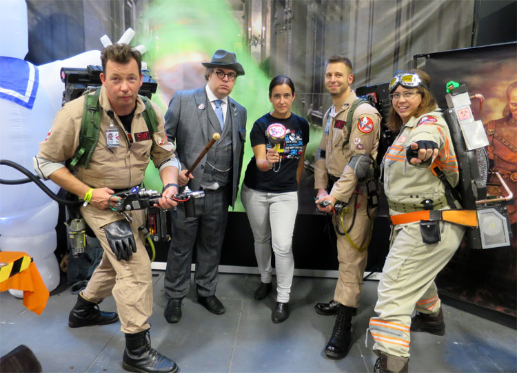 Inmitten der Ghostbusters German Division, German Comic Con, Berlin © Andrea David
