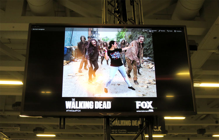 """The Walking Dead"" am Stand von Fox, German Comic Con, Berlin © Andrea David"