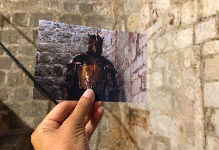 """Der Berg"" nimmt Cersei in Empfang, Ploče Tor, Dubrovnik © Andrea David / HBO"