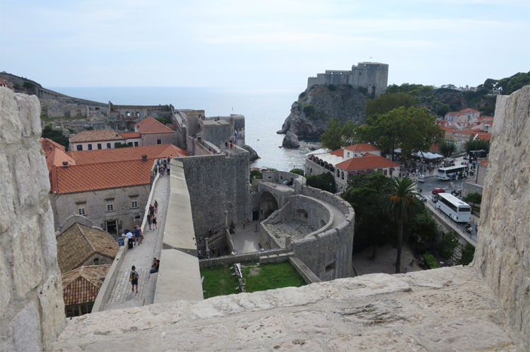 """Game of Thrones"" Drehorte an der Stadtmauer, Dubrovnik © Andrea David"