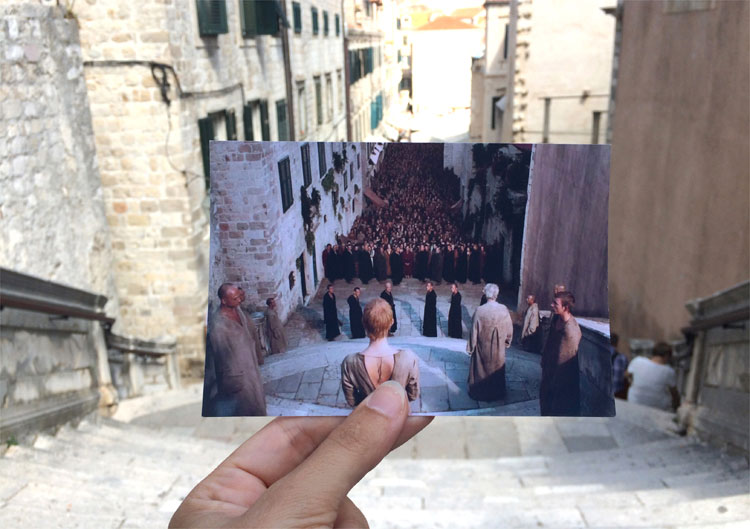 Start von Cerseis Bußgang an der Jesuitentreppe, Dubrovnik © Andrea David / HBO