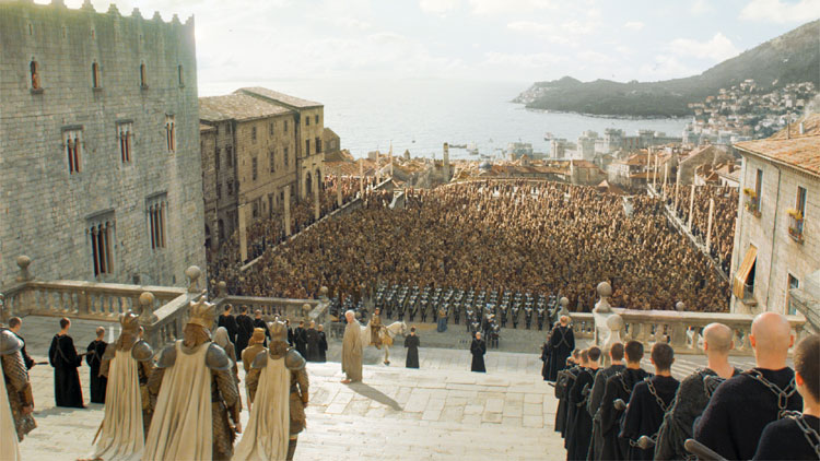 "Blick von der Septe von Baelor in ""Game of Thrones"" © HBO"