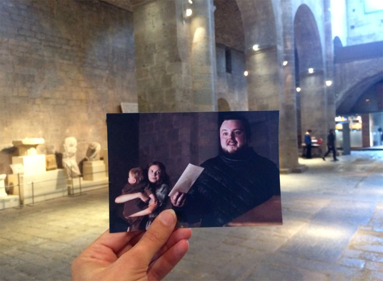 Samwell Tarly in der Zitadelle in Altsass, Monestir de Sant Pere de Galligants, Girona © Andrea David / HBO