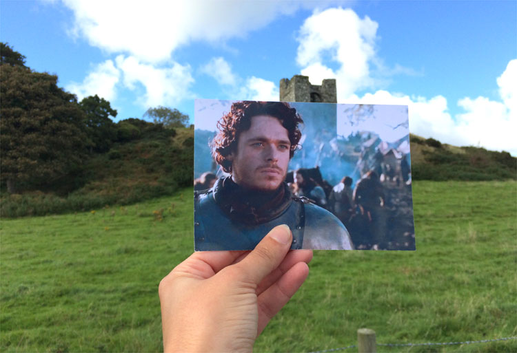 Robb Stark am Audley's Castle, Nordirland © Andrea David / HBO