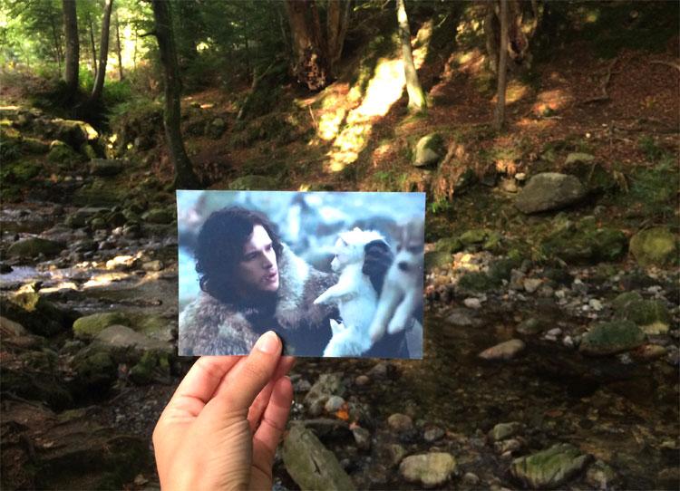 Jon Snow und sein Schattenwolf, Tollymore Forest, Nordirland © Andrea David / HBO