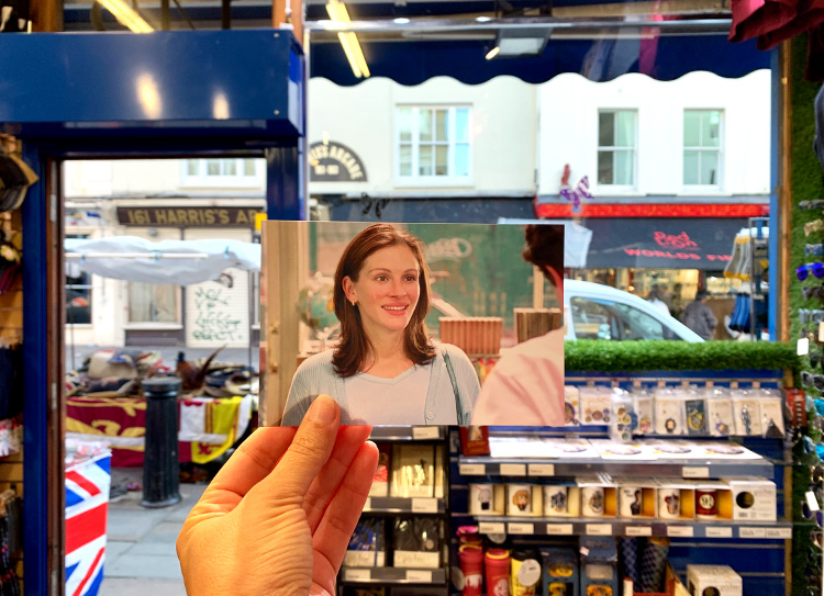 """Notting Hill"" Drehort, Portobello Road, London"