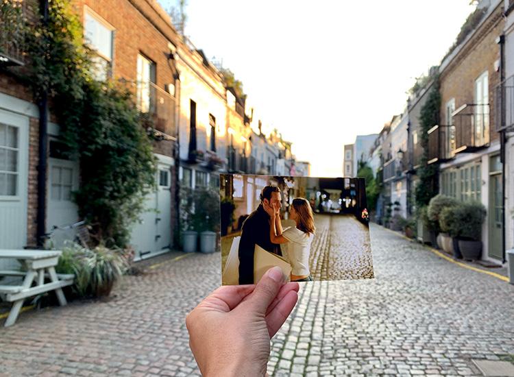 """""""Tatsächlich... Liebe"""" Drehort, St. Luke´s Mews, London"""