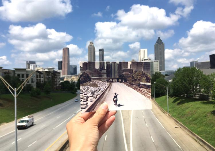 """The Walking Dead""-Drehort Freedom Parkway, Atlanta, Georgia"