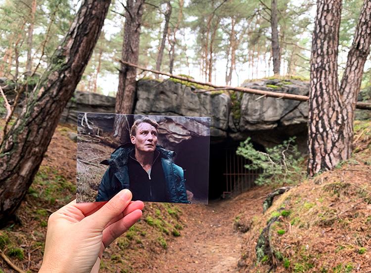 """""""Dark"""" Höhle im Saarmunder Wald, Brandenburg"""