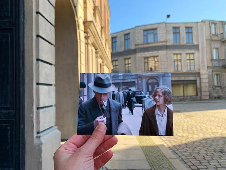 "Szene aus ""Babylon Berlin"" in der Neuen Berliner Straße, Studio Babelsberg"