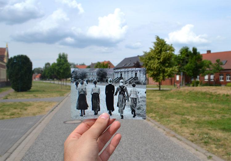 """Szene aus """"Das weiße Band"""" in Netzow, Brandenburg"""
