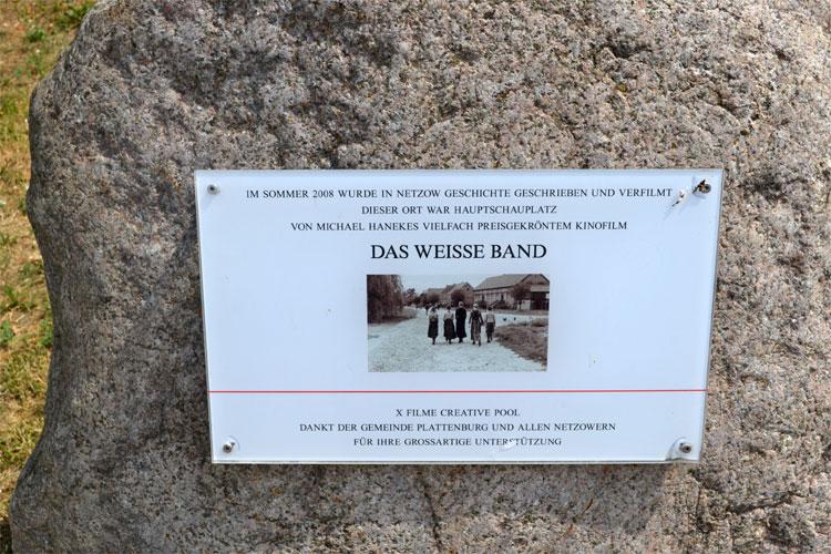 Erinnerung an den Filmdreh in Netzow, Brandenburg
