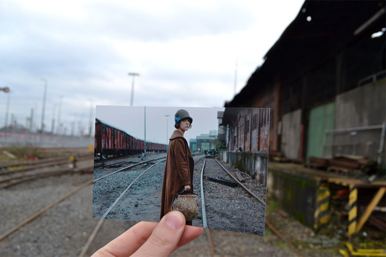 """Szene aus """"Babylon Berlin"""" am Industriebahnmuseum, Longerich"""