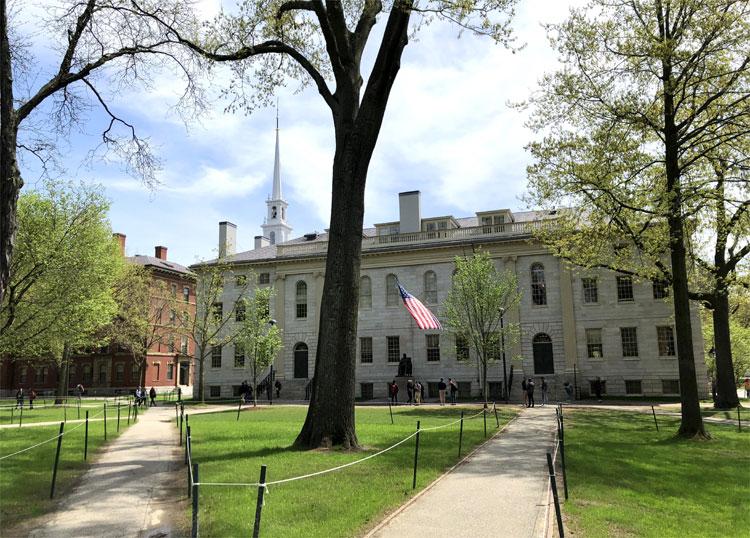 Campus der Harvard University, Cambridge, Boston