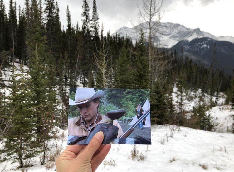 """Brokeback Mountain"" Drehort, Goat Creek Trail, Kananaskis Country, Alberta"