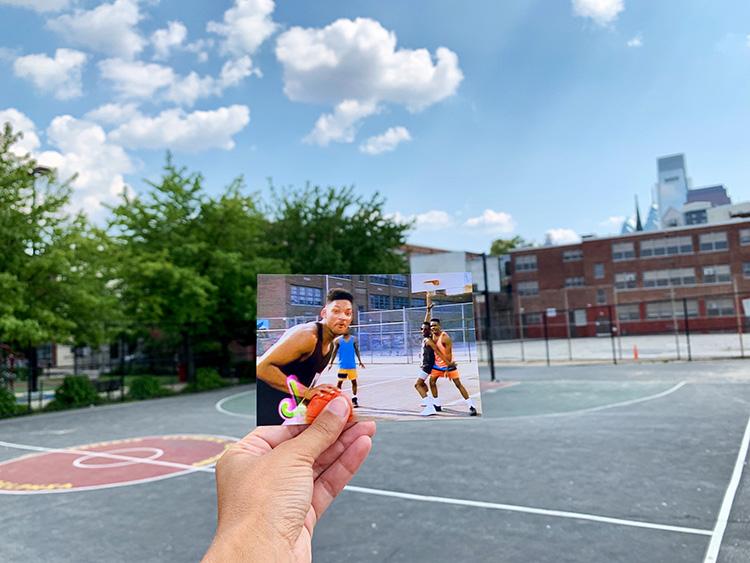 """Der Basketballplatz aus """"Der Prinz von Bel-Air"""", Philadelphia"""