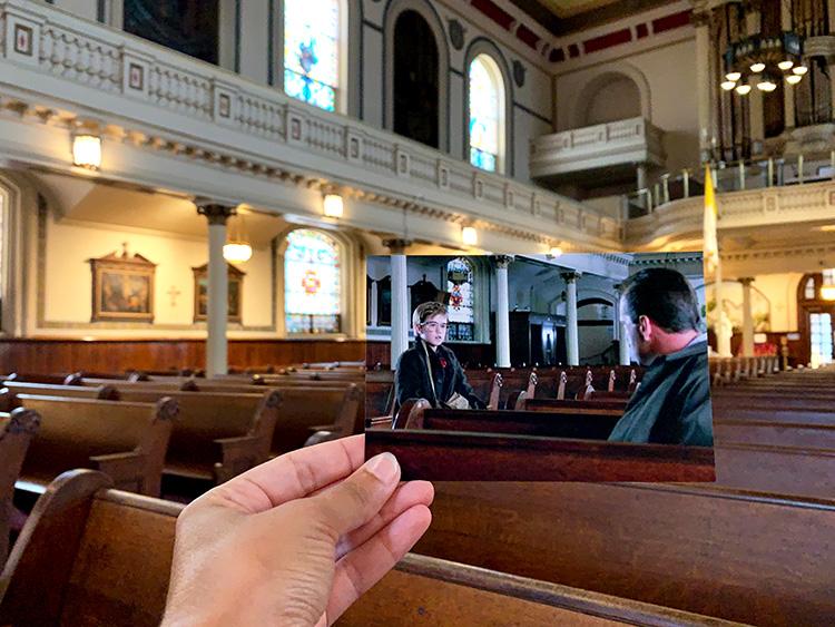 """Die Kirche aus """"The Sixth Sense"""", St Augustine Church, Philadelphia"""