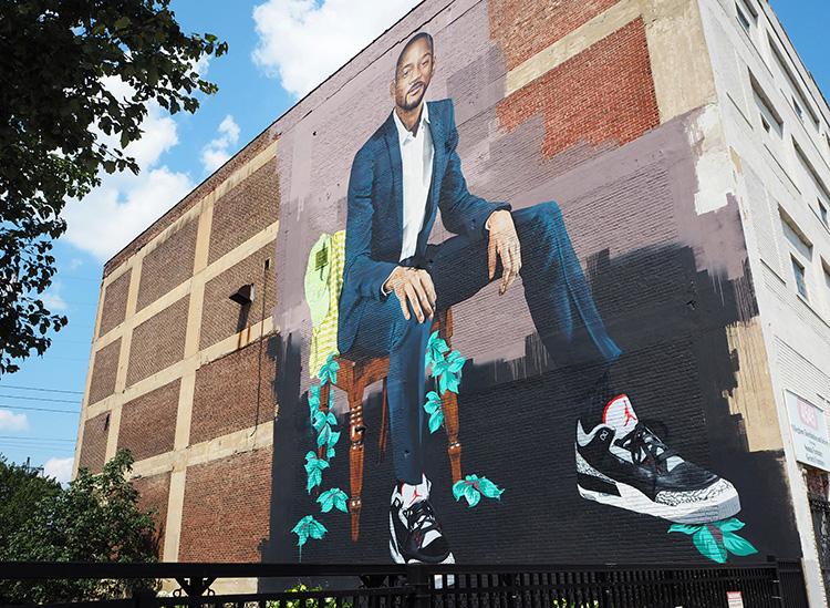 Will Smith Mural in West Philadelphia