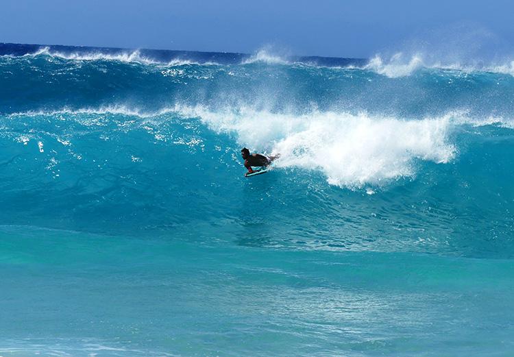 Wave Watching am Sandy Beach Park, O'ahu