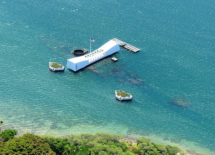 Pearl Harbour von oben