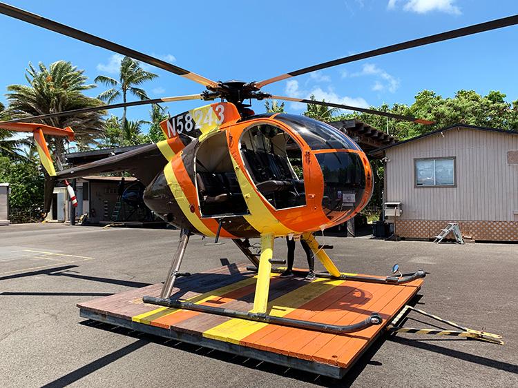 "Helikopterflug mit dem ""Magnum"" Chopper, O'ahu"