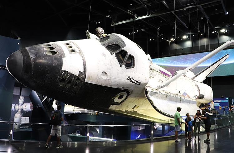 Space Shuttle Atlantis im Kennedy Space Center, Florida