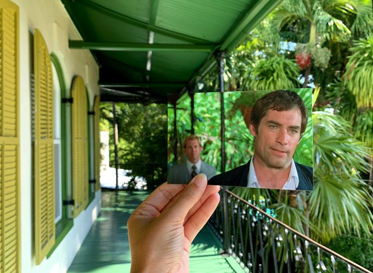 "Drehort aus ""Lizenz zum Töten"", Hemingway Haus, Key West, Florida Keys"