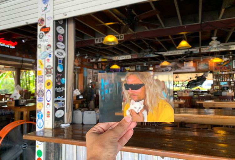 "Drehort aus ""Beach Bum"", Hogfish Bar & Grill, Florida Key"