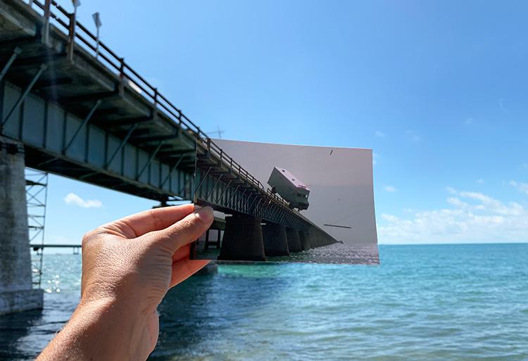 "Drehort aus ""Lizenz zum Töten"", Seven Mile Bridge, Florida Keys"