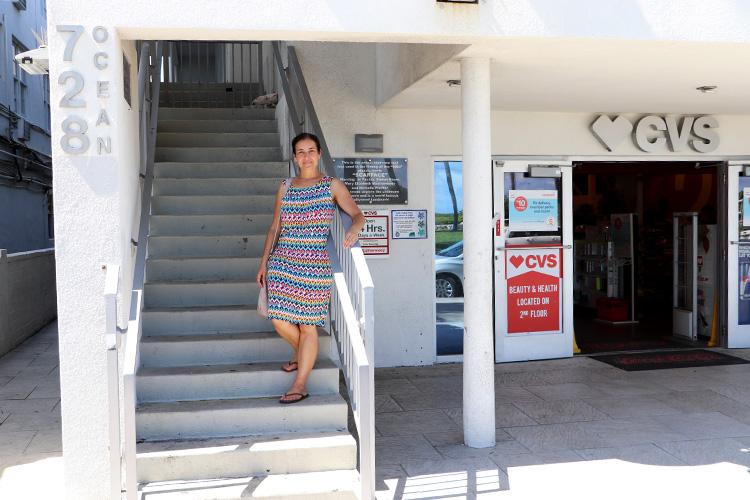 """""""Scarface"""" Staircase, Ocean Drive, Miami, Florida"""