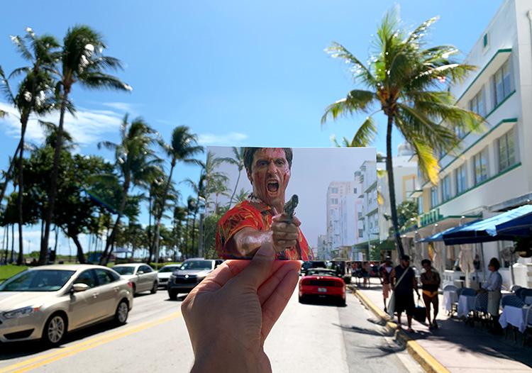 """Drehort aus """"Scarface"""", The Beacon Hotel, Miami, Florida"""