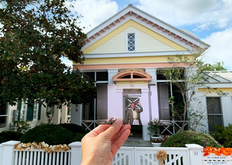 "Drehort aus der ""Truman Show"", The Truman House in Seaside, Florida"