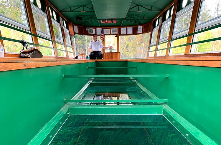 Glasbodenboot im Silver Springs State Park, Florida