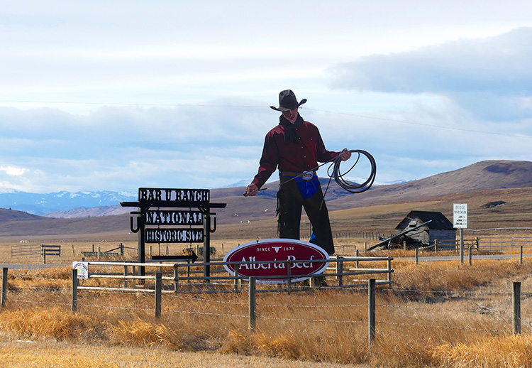 Cowboy Trail bei Longview, Alberta